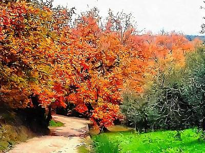 Photograph - Autumn Golden Colours Umbria by Dorothy Berry-Lound