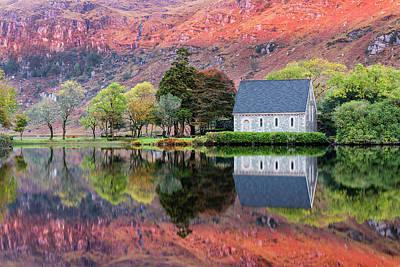 Gougane Barra Church Photograph - Autumn, Gougane Barra by Mike Brown