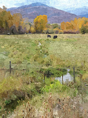 Digital Art - Autumn Grazing Dop by David King