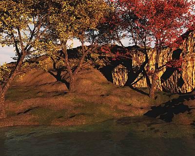 Digital Art - Autumn Grove by David Lane