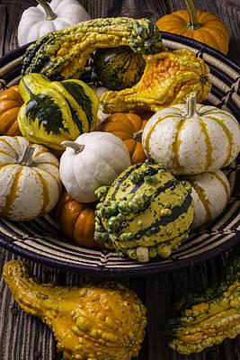 Autumn Harvest Basket Art Print