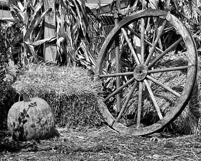 Wagon Wheels Digital Art - Autumn Harvest by Bill Cannon