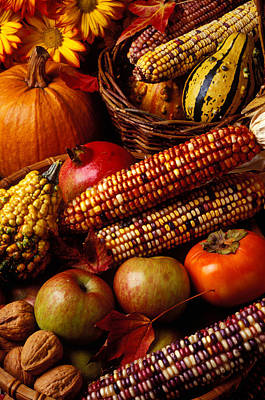 Baskets Photograph - Autumn Harvest  by Garry Gay