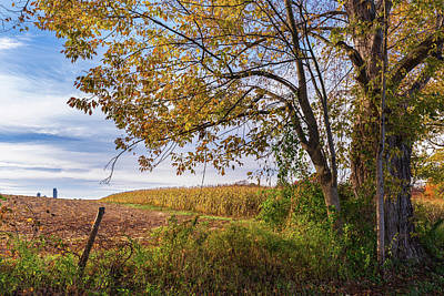 Photograph - Autumn Harvest Landscape by Bill Wakeley