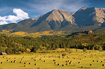 Autumn Hay In The Rockies Art Print