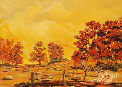 Painting - Autumn Haying by Gail Allen