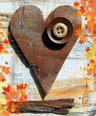 Painting - Autumn Heart by France Laliberte