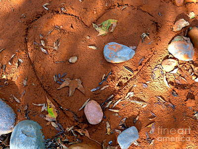 Photograph - Autumn Heart Rocks by Marlene Rose Besso