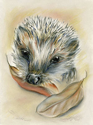Pastel - Autumn Hedgehog by MM Anderson