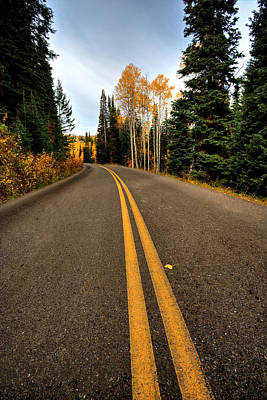 Photograph - Autumn Highway by David Andersen
