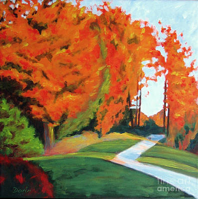 November Painting - Autumn Hill by Antony Galbraith