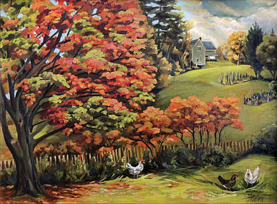 Painting - Autumn Hills In Vermont by Nancy Griswold