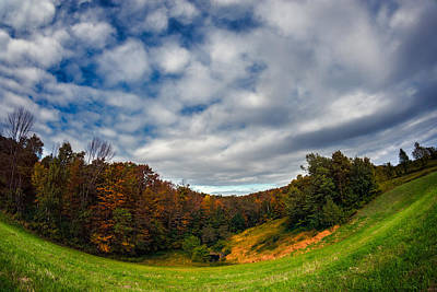Photograph - Autumn Hillside by Chris Bordeleau