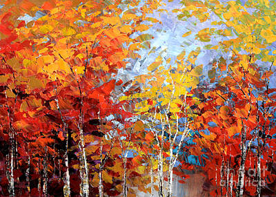 Painting - Autumn Hillside by Tatiana Iliina