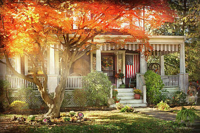 Photograph - Autumn - Home Is Where Your Story Begins by Mike Savad