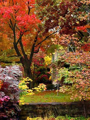 Photograph - Autumn Home by Steve Karol