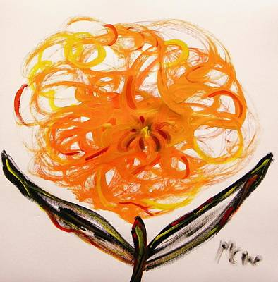 Freeform Drawing - Autumn Hope Flower by Mary Carol Williams
