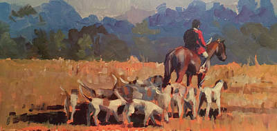 Painting - Autumn Hunt Crew by Susan Bradbury