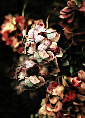 Vintage Mixed Media - Autumn Hydrangeas by Georgiana Romanovna
