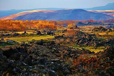 Red Roses - Autumn Icelandic Volcanic Hills by David Broome