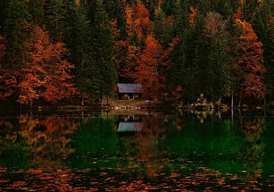 Fallen Leaf Lake Photograph - Autumn Idyll by Saso Tusar