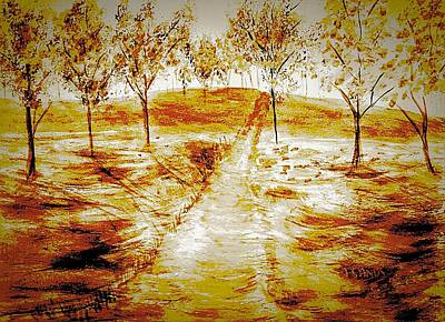 Painting - Autumn Impressions by Anne Sands