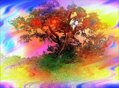 Digital Art - Autumn In Abstract Water Color by Ed Churchill