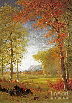 Oneida Painting - Autumn In America by Celestial Images