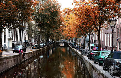 Photograph - Autumn In Amsterdam 2014 by John Rizzuto