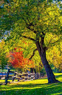 Trees Photograph - Autumn In Bolton - Paint by Steve Harrington