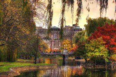 Photograph - Autumn In Boston Garden by Joann Vitali