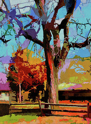 Painting - Autumn In Bridgeton by John Lautermilch