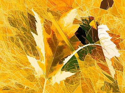 Brown Toned Art Mixed Media - Autumn In Bright Abstract by Debra Lynch