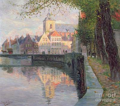 Autumn In Bruges Print by Omer Coppens