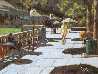 Guido Borelli Yoga Mats - Autumn in Bryant park by Tate Hamilton