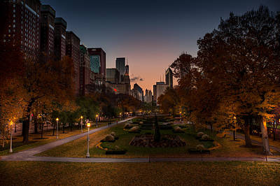 Autumn In Chicago Art Print by Adam Oles