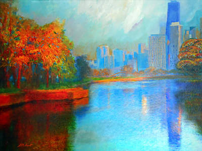 Autumn Trees Mixed Media - Autumn In Chicago by Michael Durst