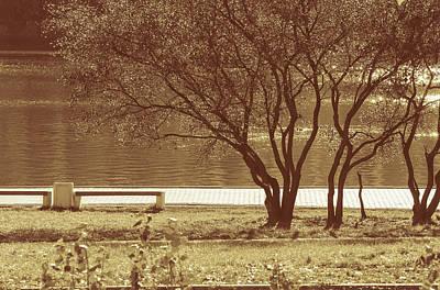 Autumn In City Park Art Print