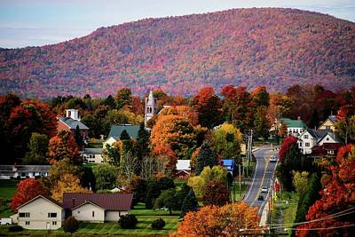 Autumn In Danville Vermont Art Print by Sherman Perry