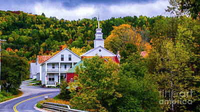 Photograph - Autumn In East Topsham Vermont by Scenic Vermont Photography