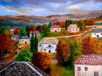 Painting - Autumn In Greece by Constantinos Charalampopoulos