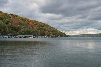 Art Print featuring the photograph Autumn In Hammondsport by Joshua House