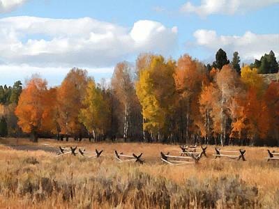 Teton Digital Art - Autumn In Jackson Hole 2 by Art Berggreen