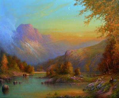 Irish Folklore Painting - Autumn In Lake Killarney by Joe Gilronan