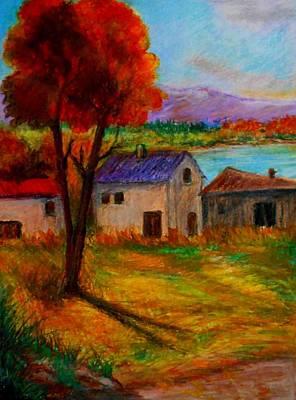Autumn In Lake Prespa Art Print