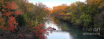 Photograph - Autumn In Layers Austin Panorama by Felipe Adan Lerma