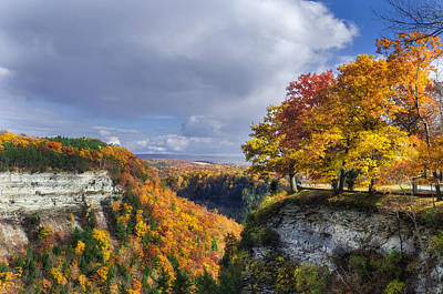 Outside Photograph - Autumn In Letchworth by Mark Papke