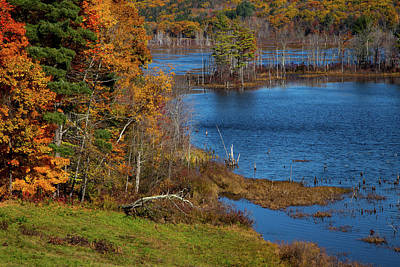 Of Autumn Photograph - Autumn In Litchfield County by Karol Livote
