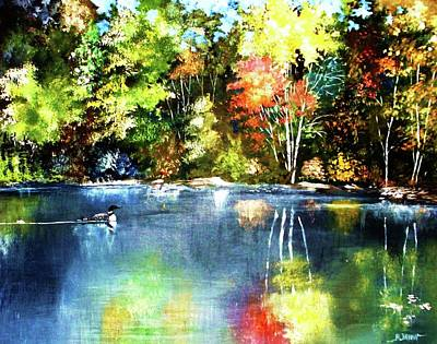 Painting - Autumn In Loon Country by Al Brown