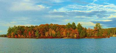 Photograph - Autumn In Maine by Lisa Gilliam